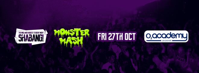 Shabang! Monster Mash! – 4 Room Carnival Event – Friday 27th Oct