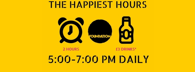 The Happiest Hours 5-7 PM