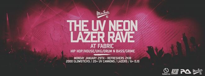 The UV Neon Laser Rave, Refreshers 2018 | @ Fabric, London