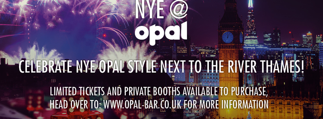 NYE @ Opal 2017 ***SOLD OUT SEE BELOW FOR OTHER NYE EVENTS***