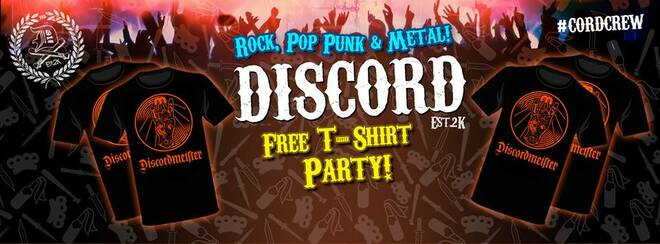 DISCORD - Free T-Shirt Party!