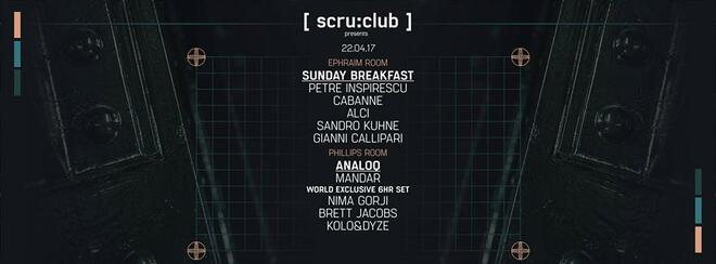 Scru:club presents | Sunday Breakfast Zurich Showcase x AnaloQ