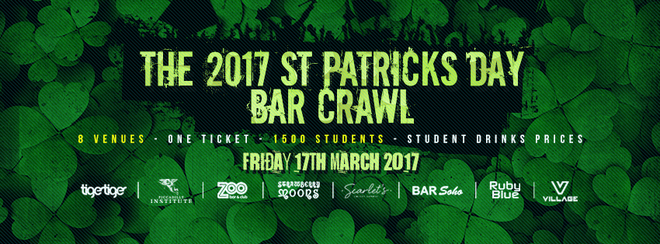 The 2017 St Patrick's Day Bar Crawl! 8 Venues // 1 Ticket!