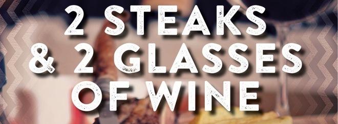 2 Steaks & 2 glasses of Wine at Tiger Tiger
