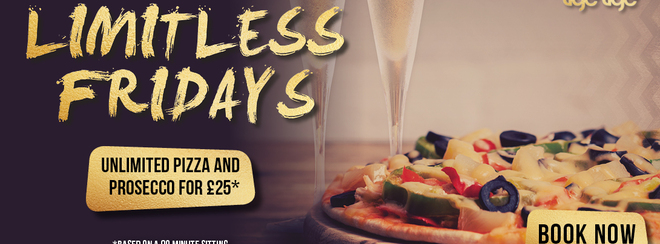 Limitless Pizza & Prosecco Friday at Tiger Tiger