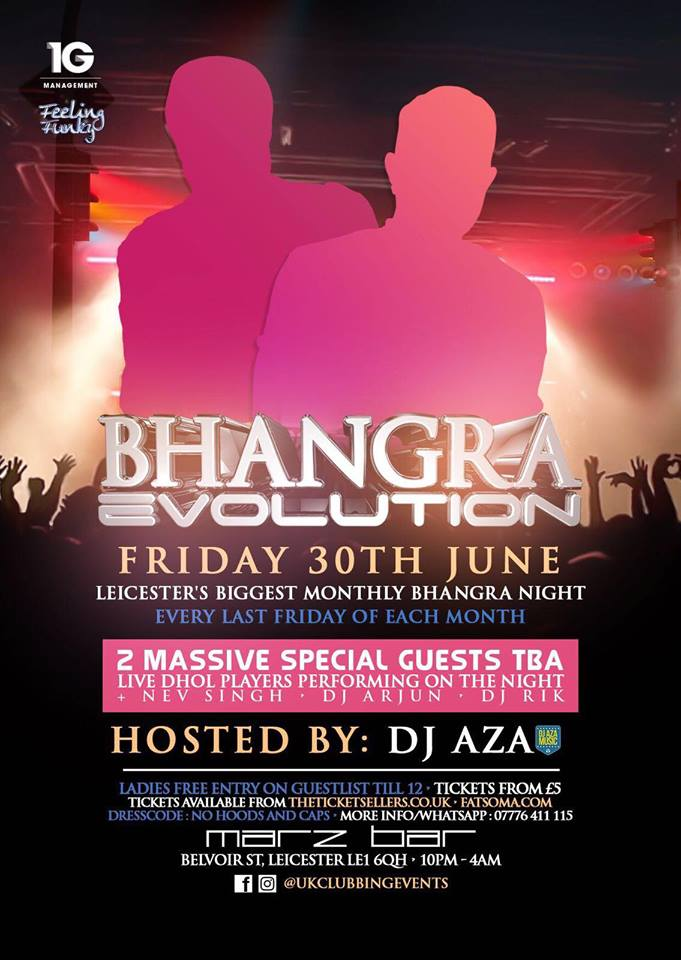 Bhangra evolution leicester every last friday of the month at 30 bhangra evolution leicester every last friday of the month at 30 ten club republic leicester tickets and events fatsoma malvernweather Image collections