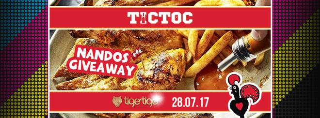 Nandos Giveaway // TIC TOC Friday's @ Tiger Tiger
