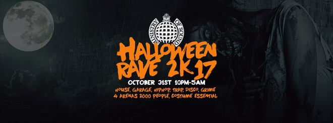 The Ministry of Sound Halloween Rave 2k17