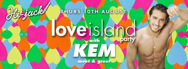 Love Island's Kem hosts Tiger Thursday