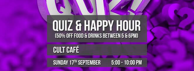 Happy Hour & Sunday Quiz