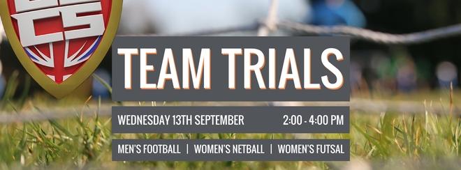 BUCS Women's Futsal team trials for 2017/18.