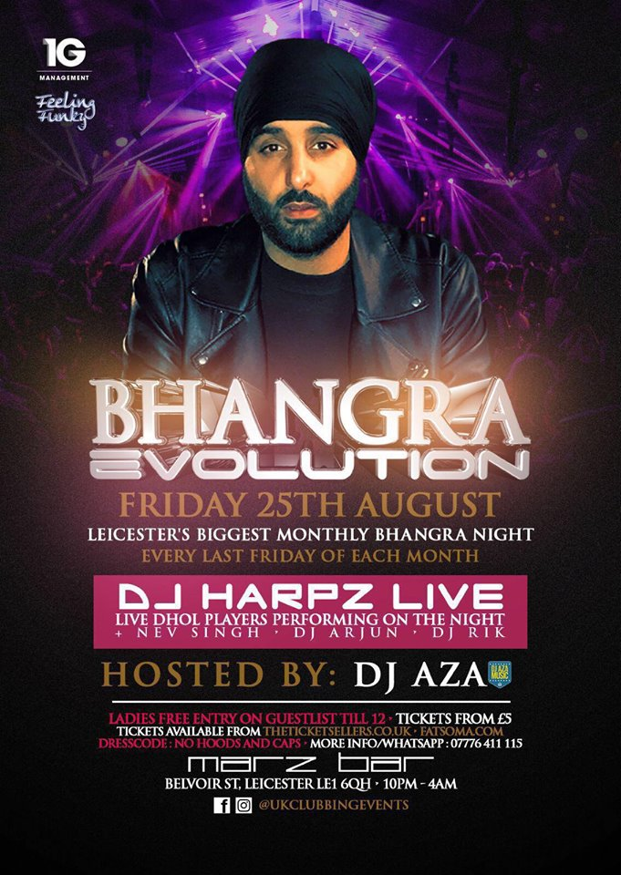 Bhangra evolution leicester every last friday of the month at 30 bhangra evolution leicester every last friday of the month at 30 ten club republic leicester tickets and events fatsoma malvernweather Choice Image