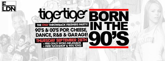 Born In The 90's, London's Biggest Throwback Party