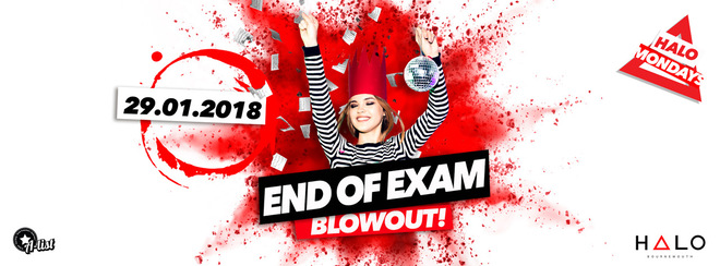 End Of Exam Blowout / 29.01.18 / Halo Bournemouth