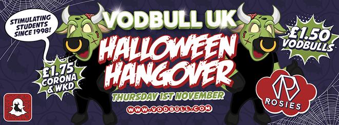 Halloween Hangover!! 1st November!!