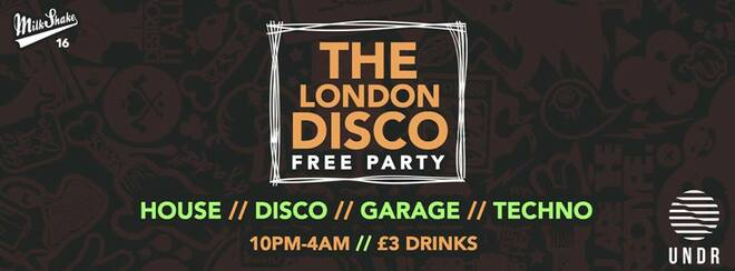 The London Disco - Thursday October 25th, Basement Rave   FREE STUDENT TICKETS