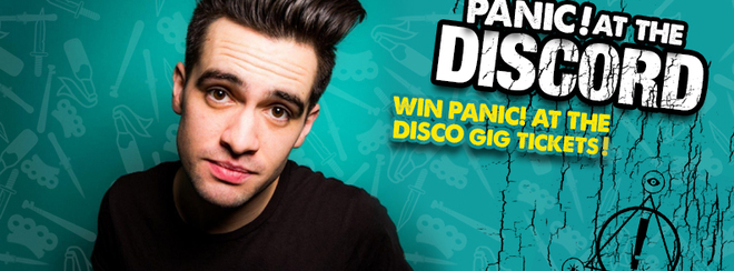 Panic! At The Discord – WIN P!ATD Gig Tickets!