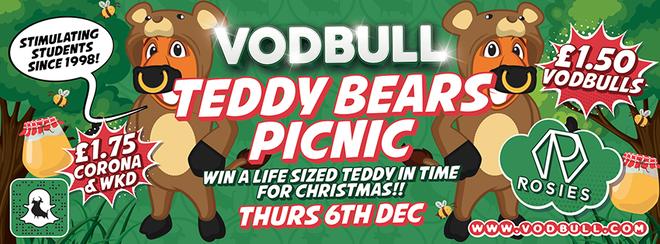 Vodbull Teddy Bear's Picnic! 6th Dec!!