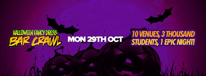 Halloween Fancy Dress Bar Crawl // Ending at Monsta Mondays!
