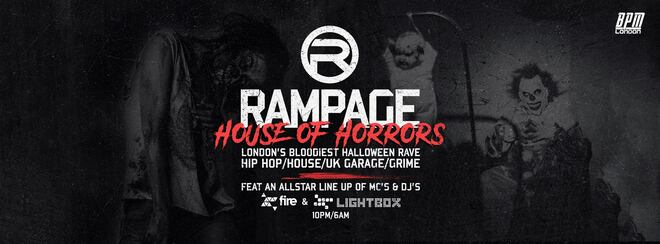 The House Of Horrors Halloween Rave at Fire London