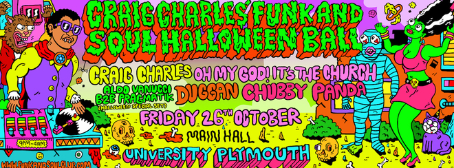 Craig Charles Funk and Soul Halloween - Plymouth
