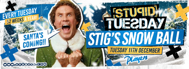 🎅 Stuesday 🎅 SOLD OUT 🎅 100 on the door from 10:30pm🎅