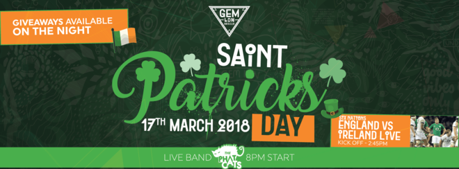 The Luck Of The Irish – St Patricks Day Party!