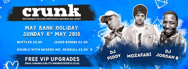 CRUNK Bank holiday Sunday @ Tiger Cardiff