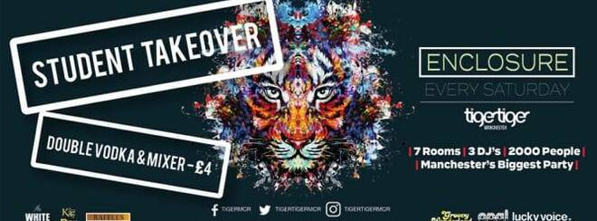 Enclosure Saturday's – FREE entry for Students