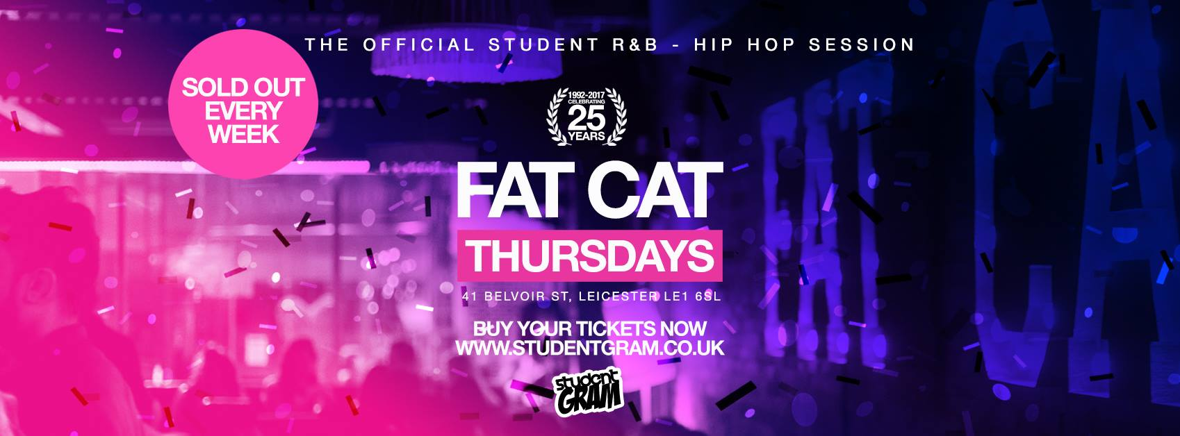 Studentgram leicester tickets and events fatsoma malvernweather Choice Image