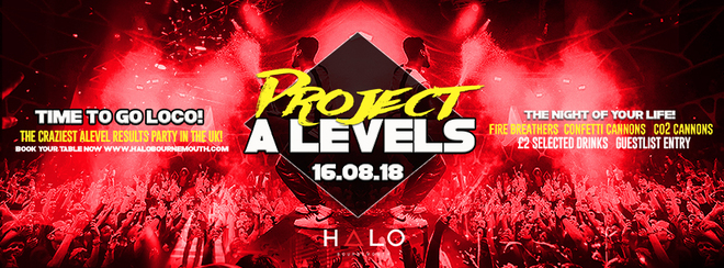 Project A-Levels – 16.08.16 – Halo Bournemouth