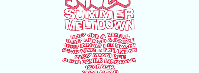 Jaded Summer Meltdown Season Ticket (9 parties)