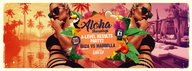 Aloha A-Levels Results Party