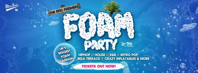 The Epic Freshers Foam Rave 2018 | Live at Fire, London