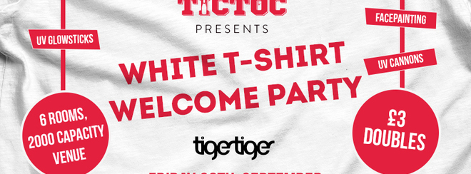 TIC TOC Presents Freshers White T-Shirt Welcome Party