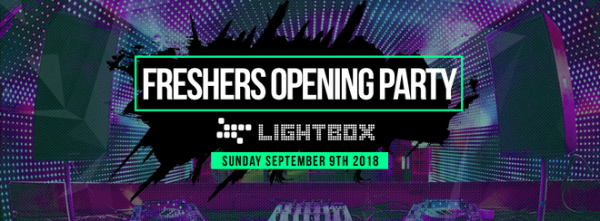 The Official Freshers Opening Party 2018 ⚡