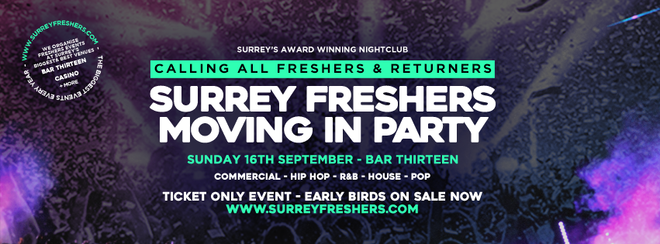 THE SURREY FRESHERS MOVING IN PARTY 2018 (GUILDFORD) // SURREY