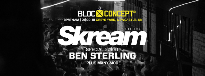 BLOC/003 / SKREAM / BEN STERLING / GREYS YARD