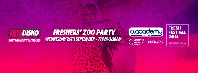 LetsDisko Freshers Zoo Party! O2 Academy Leics – Weds 26th Sept