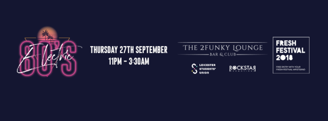 Electric 80's! – 2Funky Music Cafe – Thursday 27th September