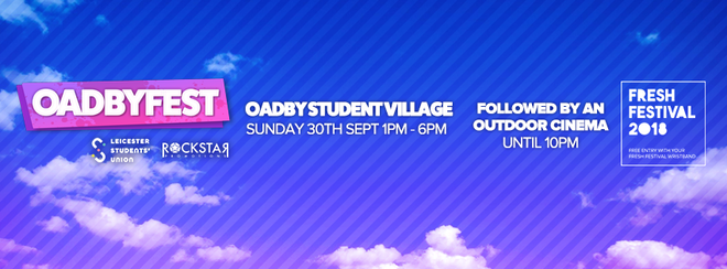 Oadbyfest! – Oadby Student Village – Sunday 30th September
