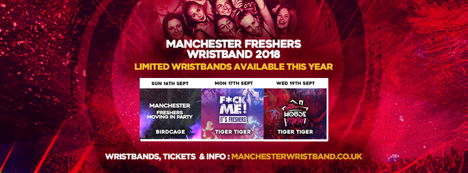 THE MANCHESTER FRESHERS WRISTBAND 2018