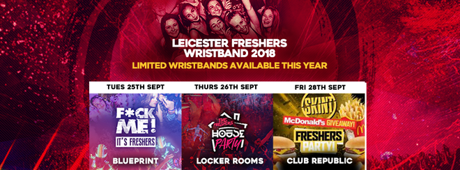 THE LEICESTER FRESHERS WRISTBAND 2018