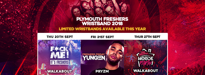 THE PLYMOUTH FRESHERS WRISTBAND 2018