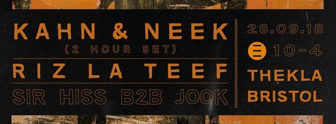 ESO 1st Birthday: Kahn & Neek, Sir Hiss b2b Jook + Riz La Teef
