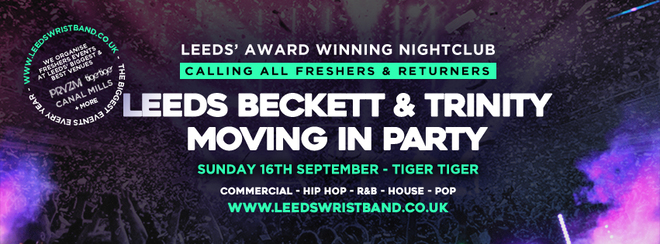 THE LEEDS BECKETT & LEEDS TRINITY FRESHERS MOVING IN PARTY 2018 // LEEDS
