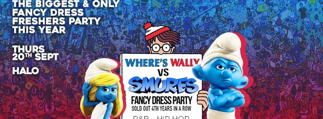 WHERE'S WALLY VS SMURFS at HALO BOURNEMOUTH