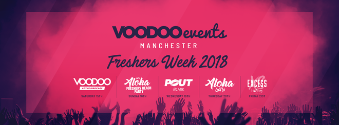 Manchester Freshers Week Pass - 4 Events, One Ticket!