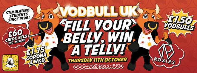 Fill your belly, Win a telly!! 11th Oct!!