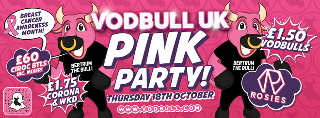 The Pink Party for Breast Cancer Awareness! 18th Oct!